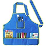 Children Apron - Nuolux Children Kids Waterproof Art Craft Smock for DIY Painting Drawing (Blue)