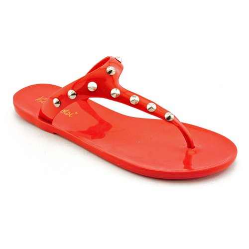 BootsiTootsi Stud Open Toe Flip Flops Sandals Shoes Red Womens