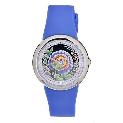 Philip Stein Women's F36S-PLFBL-BL Quartz Stainless Steel Black Dial with Boho Paisley Flower Watch from Philip Stein