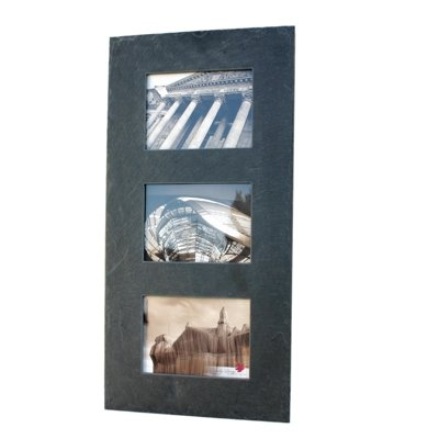 Slate Wall Photo Frame 3 Photo (30cm x 60cm)