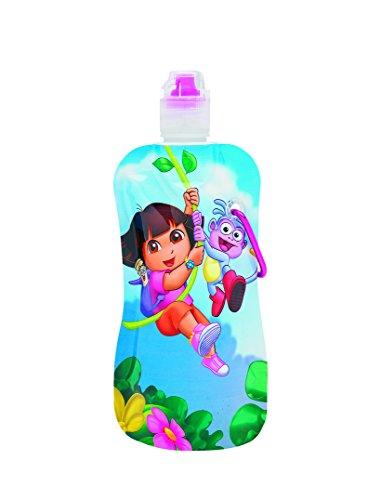 """Sharkskinzz Dora The Explorer """"Swinging"""" 12 Oz Reusable Folding Water Bottle"""