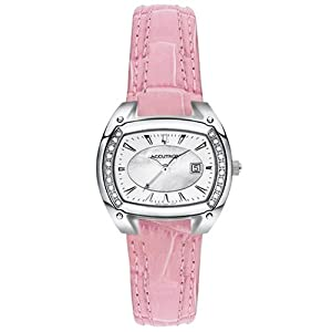 Accutron Women's 26R31 Winter Park Diamond Leather Watch