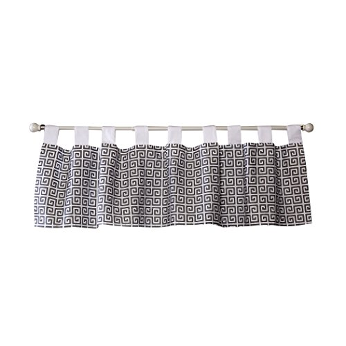 Trend Lab Gray Greek Key Window Valance