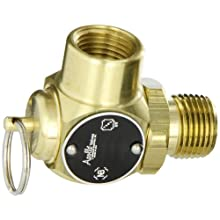 "Apollo Valve 10-512 Series Brass Safety Relief Valve, ASME Steam, 50 psi Set Pressure, 1/2"" NPT Male x Female"