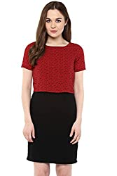 Annabelle by Pantaloons Women's A-Line Dress ( 205000005619031, Red, Small)