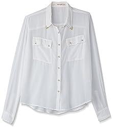 Anaphora Women's Body Blouse Shirt (56940_Off-White_X-Large)