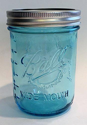 Ball Mason Jar-16 oz. Aqua Blue Glass Wide Mouth (Blue Mason Jars For Sale compare prices)