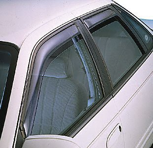 Dark Grey Outside Mount JDM Vent Visor Deflector 2pc For Nissan Altima 2dr 08-13