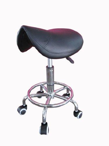 chrome-black-gas-lift-saddle-stool-for-salon-spa-massage-beauty-reiki-therapy-tattoo-black
