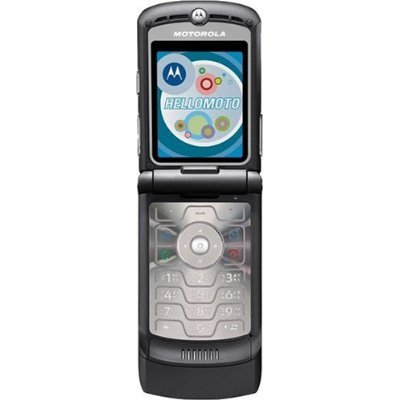 Motorola RAZR V3 Unlocked Phone with Camera, and Video Player–U.S. Version with Warranty (Black)