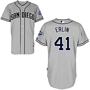Robbie Erlin San Diego Padres Road Authentic Cool Base Jersey by Majestic by Majestic