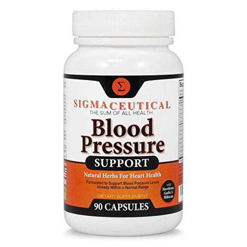 Premium Blood Pressure Support Formula - High Blood Pressure Supplement w/ Vitamins, Hawthorn, Niacin, Garlic Extract, Hibiscus, Olive & Juniper for Reducing Blood Pressure Naturally - 90 Capsules (Hawthorne Solid Extract compare prices)