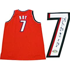 Brandon Roy 07 ROY Autographed Portland Trail Blazers Authentic Red Jersey