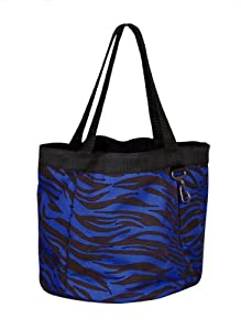 Perri's Nylon Grooming Tote Bag with 4 Pockets, Royal Blue, One Size
