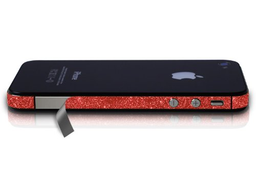 AT&T iPhone 4 Sparkling Glitter Vinyl Antenna Wrap, Ruby Red