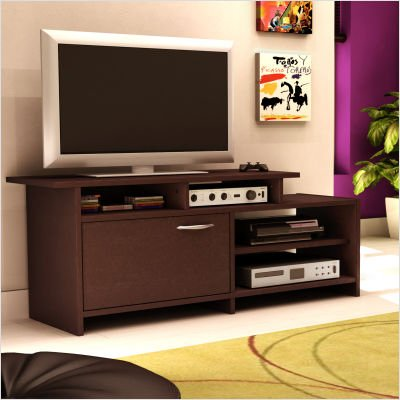 Cheap South Shore 3159661C Smart Basic Bi-Level 52-Inch TV Stand, Chocolate finish (3159661C)