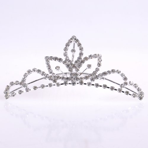 Cloud Shop Bridal Elegant Clear Crystal Tiara