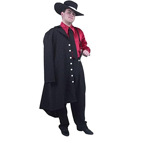 Adult Zoot Suit Costume Color: Pink/Black (Size: Medium 40-42)