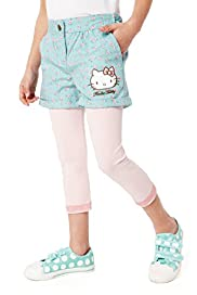 Hello Kitty Cotton Rich Shorts & Leggings Outfit