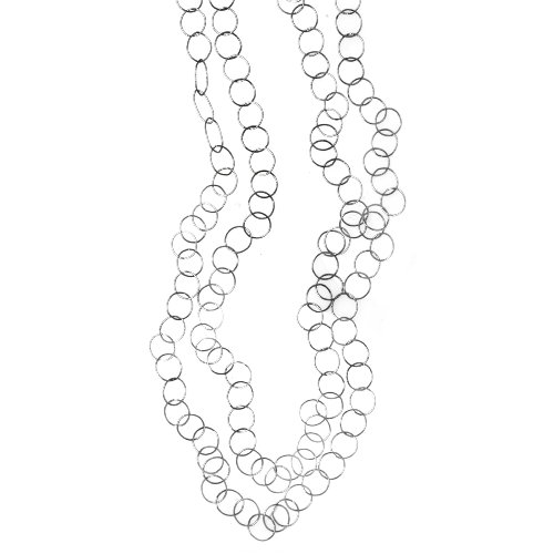 Sterling Silver Long Open Circle Link Necklace, 60