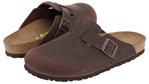 Birkenstock Unisex Boston Clog,Habana Oiled Leather,43 M EU