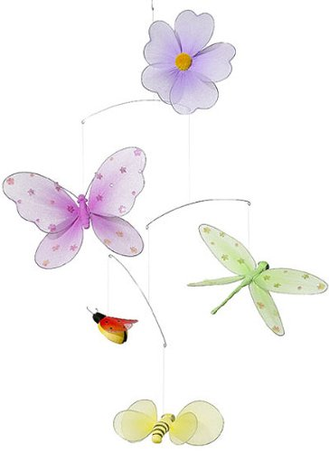 Butterfly Flower Mobile decoration for Baby Nursery ceiling wall room decor (Free Shipping U.S)