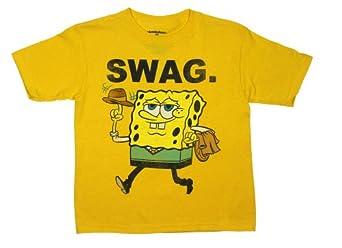 Swag. - Spongebob Squarepants Juvy and Youth T-shirt: Juvenile 4 - Bright Yellow