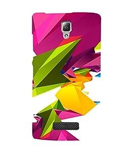 PrintVisa Colorful Modern Art 3D Hard Polycarbonate Designer Back Case Cover for Lenovo A2010