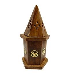 Old Wisdom - Candelero para incienso (palisandro, 15 cm), diseño de elefante