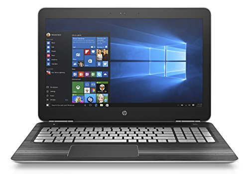 "HP Pavilion 15-bc014nl Portatile, Display FHD IPS UWVA WLED da 15,6"", Processore Intel Core i7-6700HQ, RAM 16GB, HDD da 1TB, SSD da 128GB, Scheda Video NVIDIA GeForce GTX 960M da 4GB, Argento"