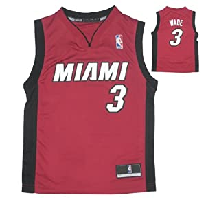 NBA MIAMI HEAT WADE #3 Youth Athletic Comfortable Fit Sleeveless Jersey Shirt Vest by NBA