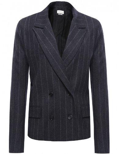 Isabel Marant Huxley Pinstripe Jacket Dunkelgrau