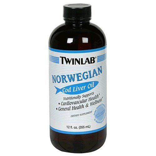 Twinlab Norwegian Cod Liver Oil, Unflavored, 12 Fluid Ounce (Pack Of 3)