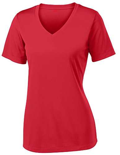 Opna Women's Short Sleeve Moisture Wicking Athletic Shirt, Large, Red (Red Shirts Women compare prices)