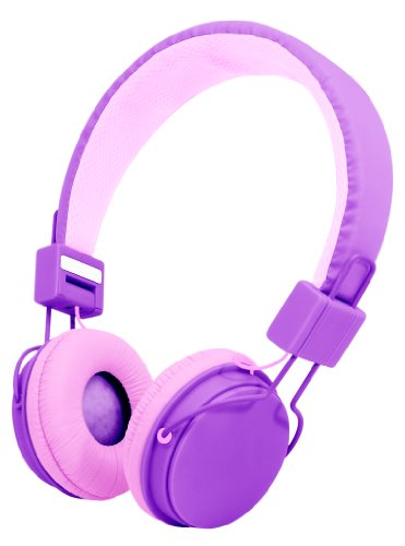 Audiology Au-350-Pur Over-Ear Stereo Headphones For Mp3 Player, Ipods And Iphones (Purple)