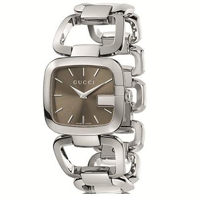 Gucci Women's YA125402 G-Gucci Medium Brown Dial Steel Bracelet Watch from Gucci