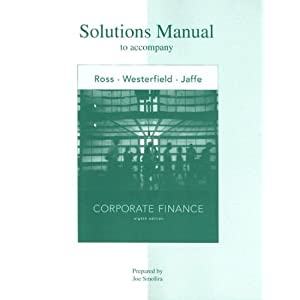 Corporate finance ross solution manual 9th ed