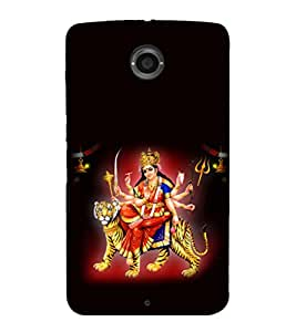 printtech Shera Wali Mata Goddess Back Case Cover for Motorola Google Nexus 6