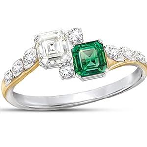 diamonesk ring jacqueline kennedy inspired