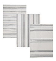 3 Natural Striped Tea Towels