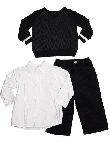 Calvin Klein - Baby Boys 3 Pc Pant Set, Black, White 33244-18Months front-1054644