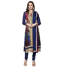 Yepme Zubeda Brasso Salwar Kameez - Navy Blue -- YPMRTS0005_Free Size