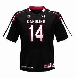 NCAA Men's South Carolina Fighting Gamecocks #14 Black College Replica Football Jersey (Black, Small)