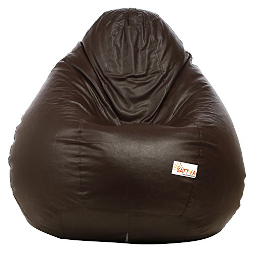Excel Bean Bags Sattva XXXL Bean Bag without Beans (Brown)