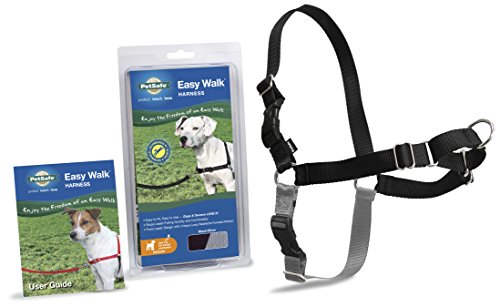 PetSafe Easy Walk Harness,  Medium, BLACK/SILVER for Dogs (Dog Harnesses For Medium Dogs compare prices)
