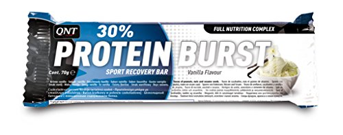 QNT Protein Burst 30% 70 g Vanilla Muscle Growth and Recovery Snack Bars - Box of 12
