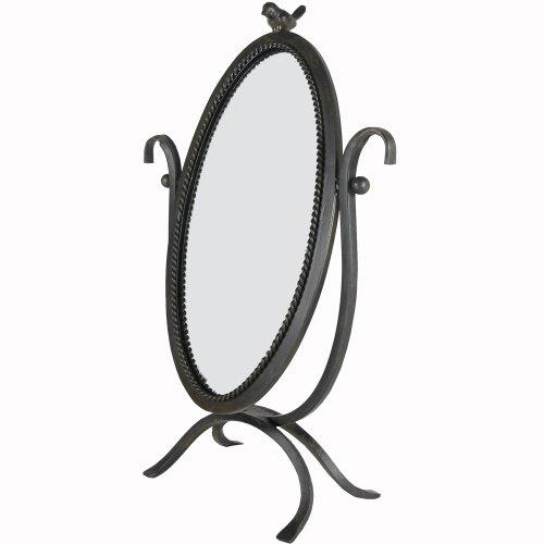 Creative Co-Op Metal And Glass Vanity Mirror With Bird front-660534