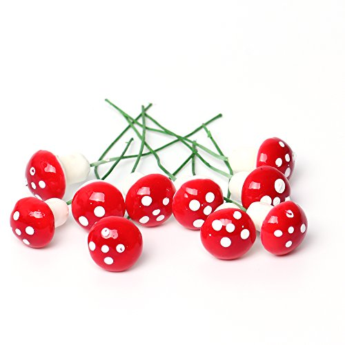 SecretRain - Miniatura di fata da giardino, a forma di fungo