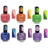 Mia Secret Mood Nail Lacquer Color Changing Nail Polish 6pc Set (6 Different Colors) Full Size Nail Polish