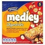 McVitie's Medley Digestives Hazelnuts & Milk Chocolate 6 X 30G